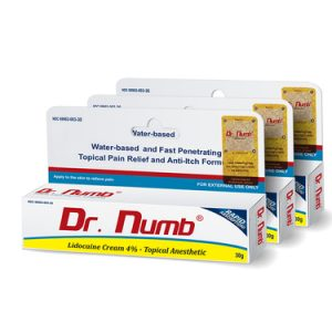 Dr. Numb Topical Anesthetic Cream- 3 Tubes