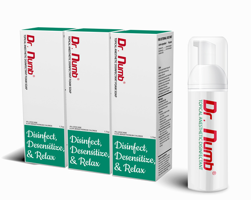 Dr. Numb Disinfectant Foam Soap- 3 Bottles