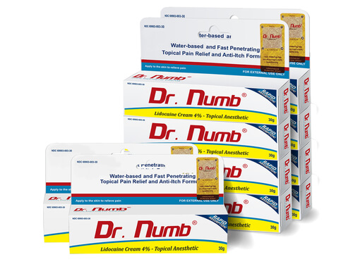 Dr. Numb Topical Anesthetic Cream- 10 Tubes
