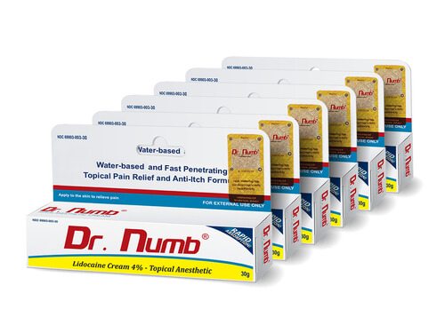 Dr. Numb Topical Anesthetic Cream- 6 Tubes