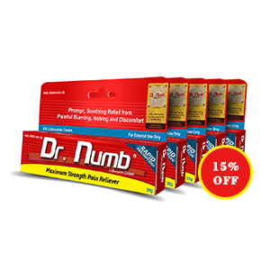 Dr. Numb® 5% Lidocaine Cream X 5